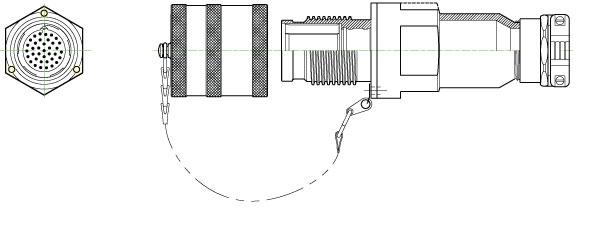 AMPHENOL EEC MECHANICAL CLAMP RECEPTACLE